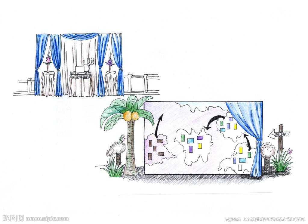 入门婚礼手绘图
